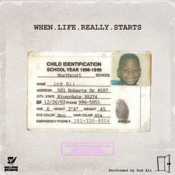 "Stream: @HoFRecords_ artist Dre Ali Project ""When. Life. Really. Starts"""
